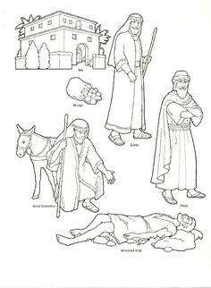 Good Samaritan Story Coloring Page  Sunbeams  Pinterest  Sunday