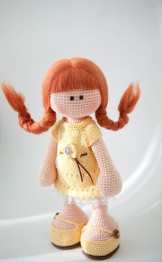 crocheted doll, crochet, lovely girl amigurumi