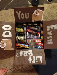 Fitness care package idea
