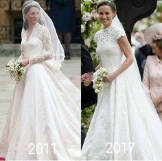 Kate married 4-29-2011 Pippa married 5-20-2017