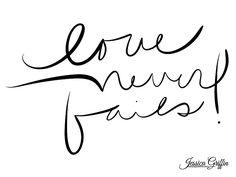 love never fails font