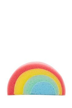 A foam bath sponge featuring a rainbow design. Bath Sponges, Beauty Forever, Horse Grooming, Slumber Parties, Home Accessories, Bathroom Stuff, Cleansers, Soaps, Forever 21