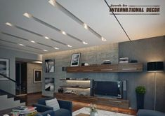 pop design ceiling for modern interior, pop ceiling designs, plasterboard ceiling