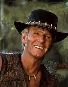 Paul Hogan Crocodile Dundee, Film Movie, Movies, I Spy, Character Reference, It's Raining, Cowboy Hats, Tv Series, How To Look Better