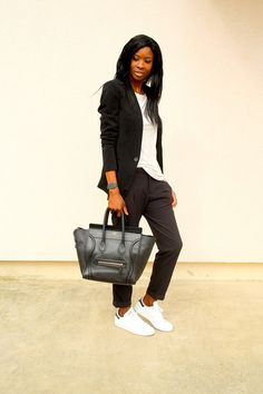 look-working-girl-baskets-adidas-stan-smith-sac-celine-luggage-blog-mode
