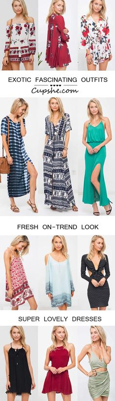 With new styles updated weekly, you'll be sure to find the perfect dress for whatever the occasion. These gorgeous dresses definitely fall in tim Cute Fashion, Girl Fashion, Fashion Outfits, Pretty Outfits, Cute Outfits, Spring Summer Fashion, Summer Chic, Dress To Impress, Cute Dresses