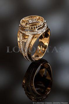 """Lobortas Men's """"Paris"""" Ring"""