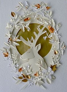 paper+cutting | Frosty Details of the Christmas styled mantel on Living etc.