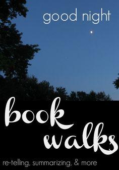 a good night book walk | retelling and summarizing help for kids