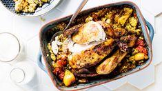 Broileri on hyvä arkiruoan raaka-aine, jonka tähteistäkin voi tehdä vaikka mitä. Poimi suosikkireseptit, joiden avulla jalostat broilerin rippeistä herkkua. Tandoori Chicken, Mozzarella, Guacamole, Pesto, Curry, Pork, Dishes, Ethnic Recipes, Lasagna