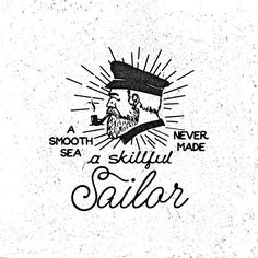 Instagram media by kevinarya - A Smooth Sea Never Made a Skillful Sailor Typo Logo, Logo Branding, Sailor Logo, Bpd Quotes, Nautical Logo, Sea Logo, Old School Ink, Coffee Shop Logo, Fancy Letters