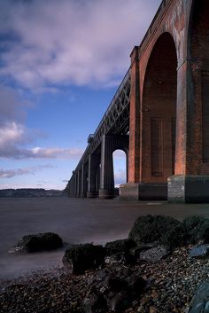 Tay Bridge ~ The Tay Bridge disaster occurred during a violent storm on 28 Dec. 1879 when the first Tay Rail Bridge collapsed while a train was passing over it from Wormit to Dundee, killing all aboard. The stumps of the original bridge piers are still visible above the surface of the Tay River.