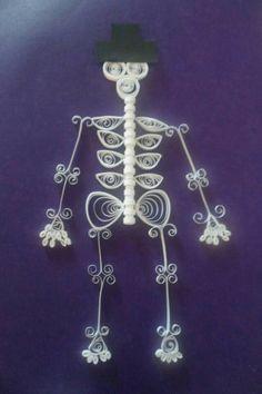 Esqueleto filigrana de papel