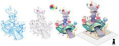 Concept art, edian, esther diana, illustration, children's stories, cuentos infantiles, juegos, games, my fair lady,