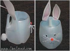 Easter Bunny Milk Jug Basket
