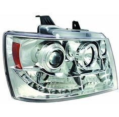 Ipcw Projector Head Lamps With Rings Fits Chevrolet Avalanche-Suburban-Tahoe Avalanche Truck, Truck Tailgate, 2014 Chevy, Custom Truck Parts, Jeep Accessories, How To Make Light, Cool Cars, Chrome, Trucks