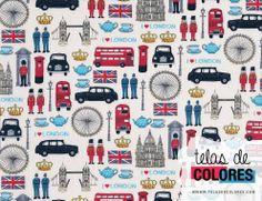Tela de Makover. Iconos de Londres.
