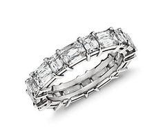 Brilliant Emerald Mixed Cut Diamond Eternity Ring in Platinum (4.5 ct. tw.) #BlueNile