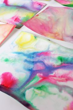 Science & Art for Kids: Marbled Milk Paper - Babble Dabble Do