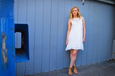 Lola & Jane is Salt Lake City's newest and hottest boutique. White Sleeveless Dress, White Dress, Salt Lake City News, Gladiator Sandals, Neckline, Lace Up, Boutique, Zip, Summer