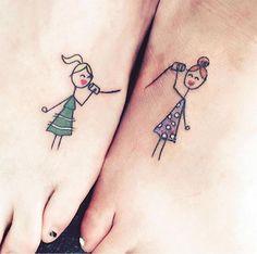 """28 Sister Tattoos - """"Hi sis!"""""""