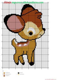 Disney Bébé Bambi grille point de croix - 1576x2220 - 1275819