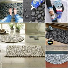 18 Creative Ideas To Decorate Your Home With River Rocks ~ Popular Living Room Design Decor Crafts, Diy Home Decor, Diy And Crafts, Interior Design Living Room, Living Room Designs, Kitchen Interior, Room Interior, Diy Casa, Diy Letters
