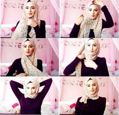 I have written Turkish hijab tutorial step by step for girls who want to adopt classy Turkish hijab style. These Turkish Hijab style steps are very easy. Turkish Hijab Style, Turkish Fashion, Islamic Fashion, Easy Hijab Style, Hijab Simple, Turkish Hijab Tutorial, Hijab Style Tutorial, Beau Hijab, How To Wear Hijab