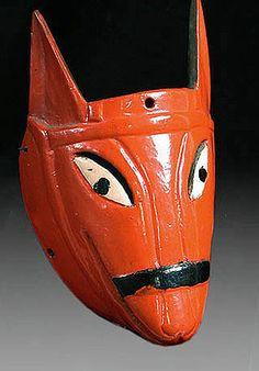 Red burrito Xantolo mask, Hidalgo, Mexico