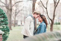 Washington Square Park | Philadelphia Winter Engagement