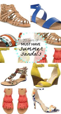 20 Gorgeous pairs of must have summer sandals. Sandals are one of the top summer style essentials, wedges, flats, espadrilles and heels