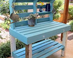 Duck egg blue potting table. Not2shabby Furniture Catalogue