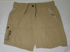 Men's RALPH LAUREN RLX  Flat Front  Cargo Shorts Trunks S - Beige - Nylon Blend #RalphLaurenRLX #Cargo