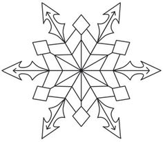 Snow Crystal design (UTH12391) from UrbanThreads.com