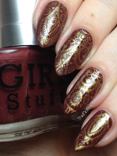 This easy, henna-inspired nail art design features Girlstuff Chestnut with stamping using the MJ XXVIII Stamping Plate from My Online Shop. Stamping Plates, Mj, Nail Art Designs, Nails, Finger Nails, Ongles, Nail Designs, Nail, Nail Manicure