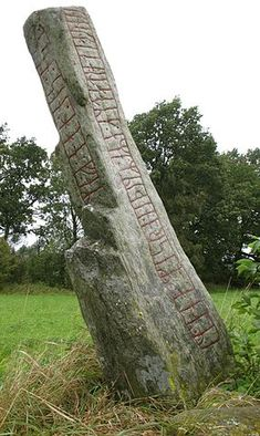 Transjö Runestone (photo by Berig) – Norse Mythology-Vikings-Tattoo Celtic Mythology, Viking Symbols, Viking Runes, Mayan Symbols, Egyptian Symbols, Casa Viking, Nordic Runes, Ancient Runes, Viking Culture