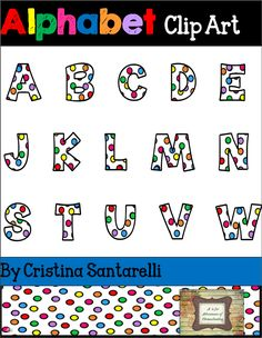 """Freebie!!! Alphabet Clip ARt!! Oh these are just too cute!!!! ....Follow for Free """"too-neat-not-to-keep"""" teaching tools & other fun stuff :)"""