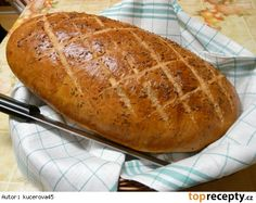 Domácí kmínový chleba Bread Recipes, Cooking Recipes, Healthy Recipes, Czech Recipes, Ethnic Recipes, My Favorite Food, Favorite Recipes, Bread And Pastries, Croissants
