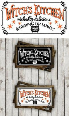 Love this for making fun Halloween decor with my Cricut! Witch s Kitchen  Halloween Sign cut File  38805a505670