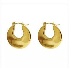9ct Gold Filled Creole Huggie Hoop Earrings