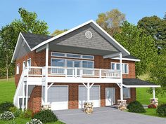 012G-0133: Garage Apartment Plan for a Sloping Lot