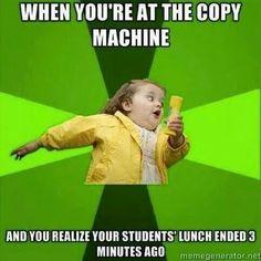 Teacher life...
