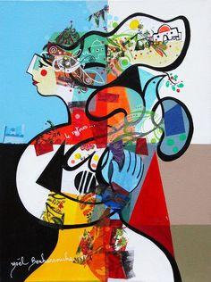 Le retour - 30 x 40 cm - Acrylique sur toile