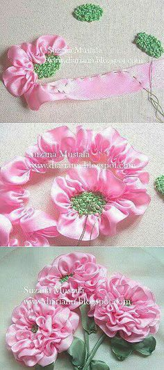 Wonderful Ribbon Embroidery Flowers by Hand Ideas. Enchanting Ribbon Embroidery Flowers by Hand Ideas. Embroidery Designs, Ribbon Embroidery Tutorial, Folk Embroidery, Paper Embroidery, Silk Ribbon Embroidery, Embroidery Supplies, Embroidery Stitches, Flower Embroidery, Embroidery Techniques