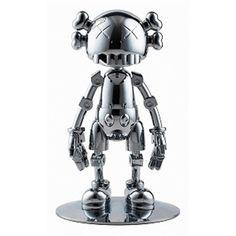 Hajime Sorayama and KAWS Sculpture Art, Sculptures, Superflat, Installation Art, Chrome, Auction, Toy Art, Illustration, Bart Simpson