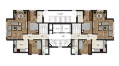 House Floor Plans, Flooring, How To Plan, Villas, Modern, Home, Architecture, Home Plants, Trendy Tree