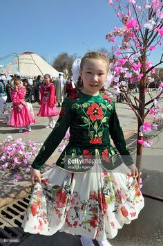 Kyrgyz people take part in the Newroz celebrations in Bishkek's central square on March 21, 2015. Newroz is the March 21 festival that marks the beginning of spring and is celebrated mainly in Iran, Afghanistan, India, Turkic republics such as Azerbaijan, Caucasus countries, Albania and Macedonia.