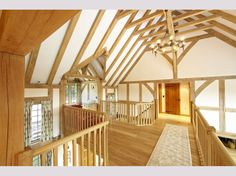 Oakwrights traditional oak framed 'country homes' Oak Framed Buildings, Oak Frame House, New Builds, Building A House, Stairs, House Design, Traditional, House Styles, Gallery