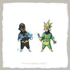 Little Friends - Black Lightning and Electro by rawlsy.deviantart.com on @deviantART