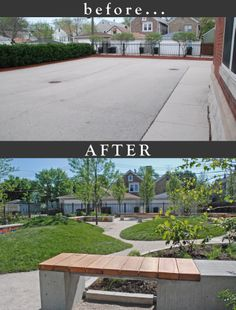 Garden Design Before And After garden design - before and after evergreen academy cullitonquinn